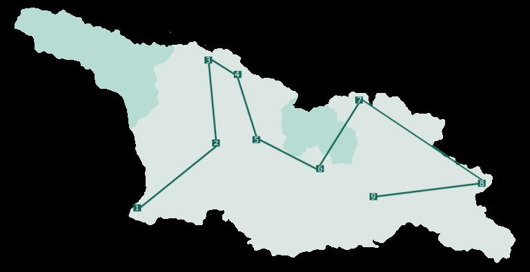 mietwagen rundreise georgien route