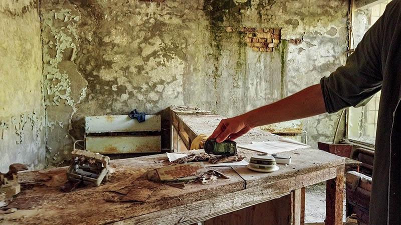 toedliche strahlung krankenhaus kleidung tschernobyl
