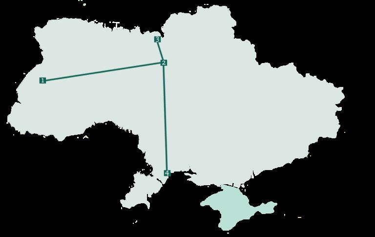 zugrundreise ukraine route