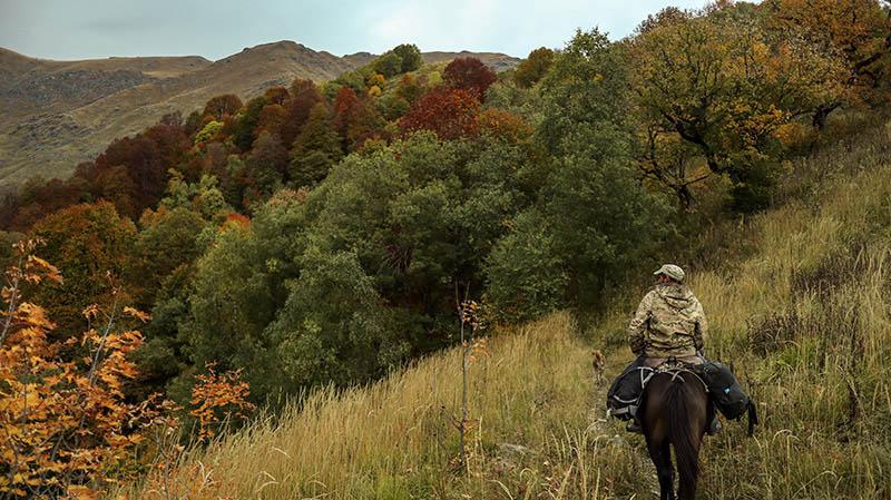 drei tages tour mit pferd lagodekhi national park georgien