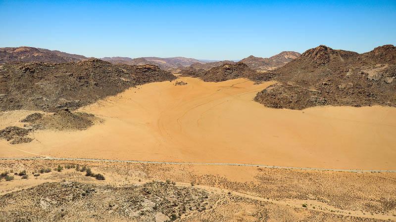 aussicht landschaft goegap südafrika