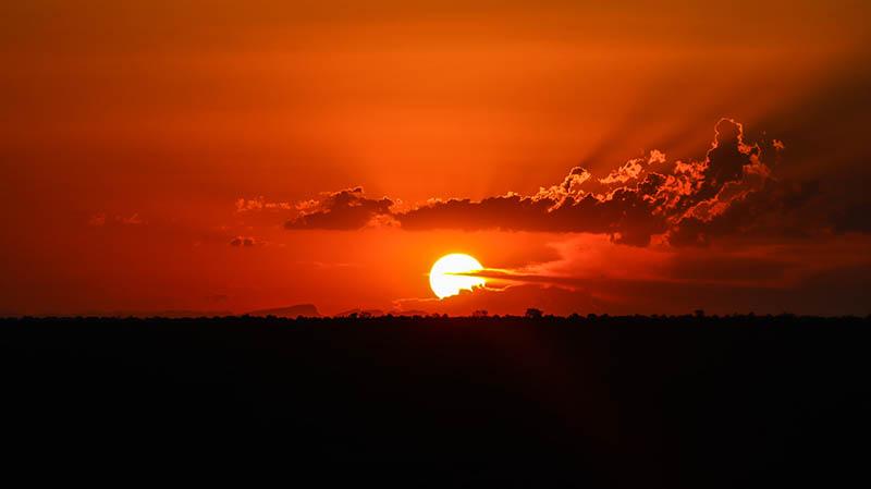 südafrika sonnenuntergang kruger national park